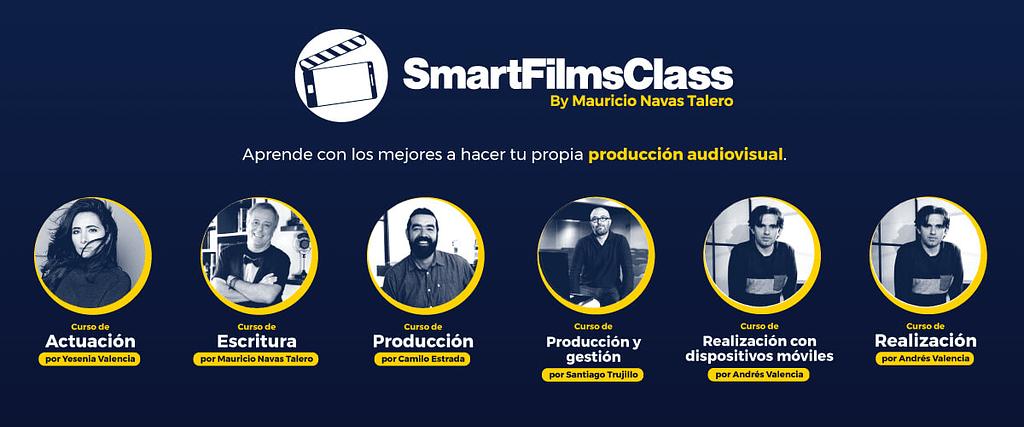 SmartFilmsClass by Mauricio Navas Talero - Masterclass of audiovisual writing, acting and cinema made with cell phones